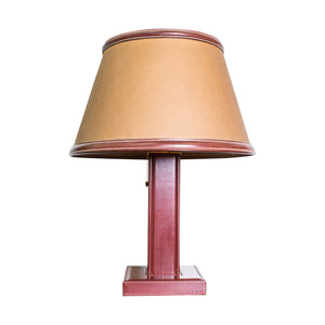 A Jacques Adnet (1901 - 1984) Hand Stitched Table Lamp