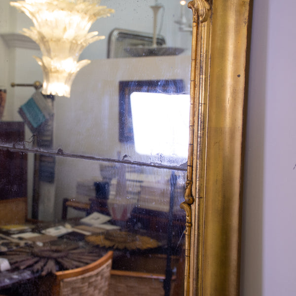 A Large George II Style Gilt-Gesso Pier Mirror