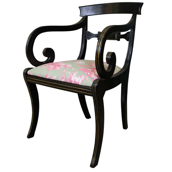 Ebonised Regency Armchair