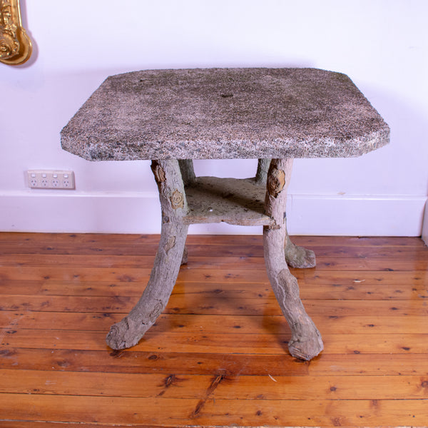 French Faux Bois Bistro Table