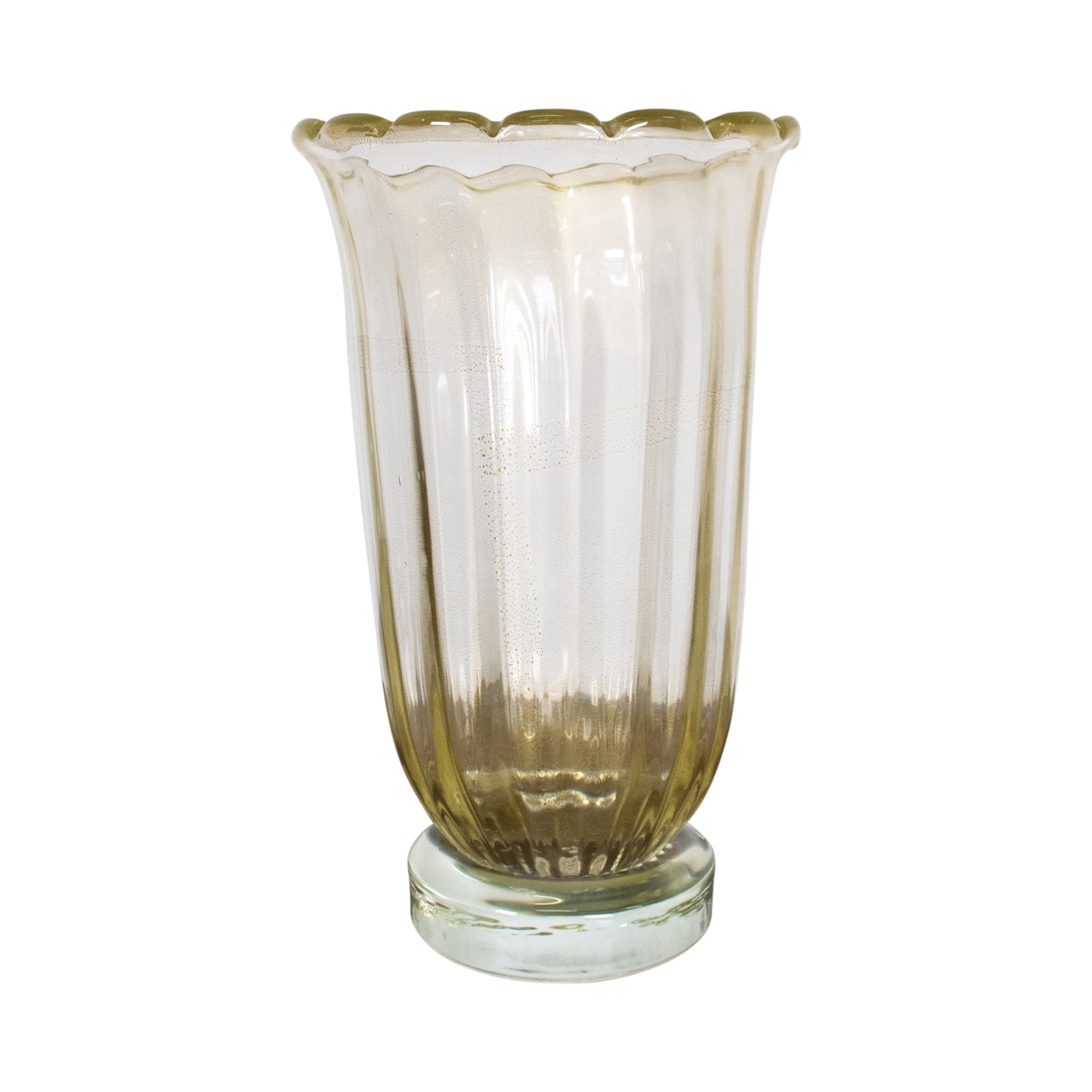 "An ""Avventurrina"" Murano Glass Vase by Sergio Costantini"
