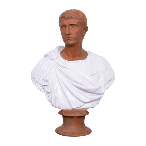 Italian Terracotta Bust of a Young Julius Caesar