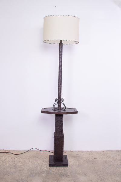 French Art Deco Bronze Floor Lamp