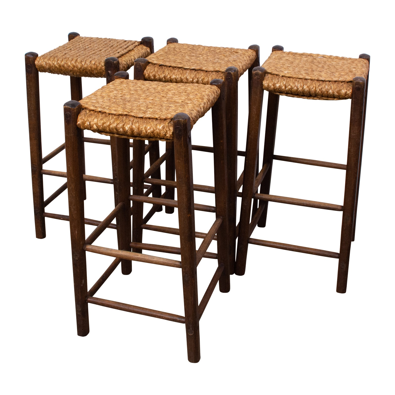 Super Set Of Four Audoux Minet Style Rope Bar Stools The Vault Gmtry Best Dining Table And Chair Ideas Images Gmtryco