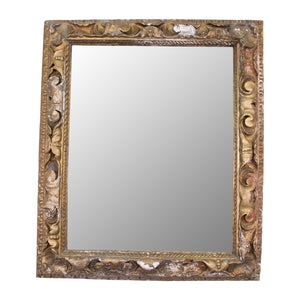 A Distressed Gilt Antique Mirror