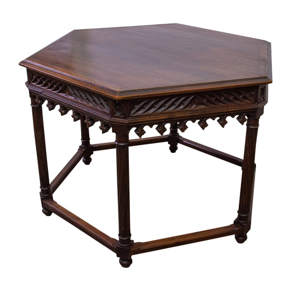 French Gothic Hexagonal Style Centre Table