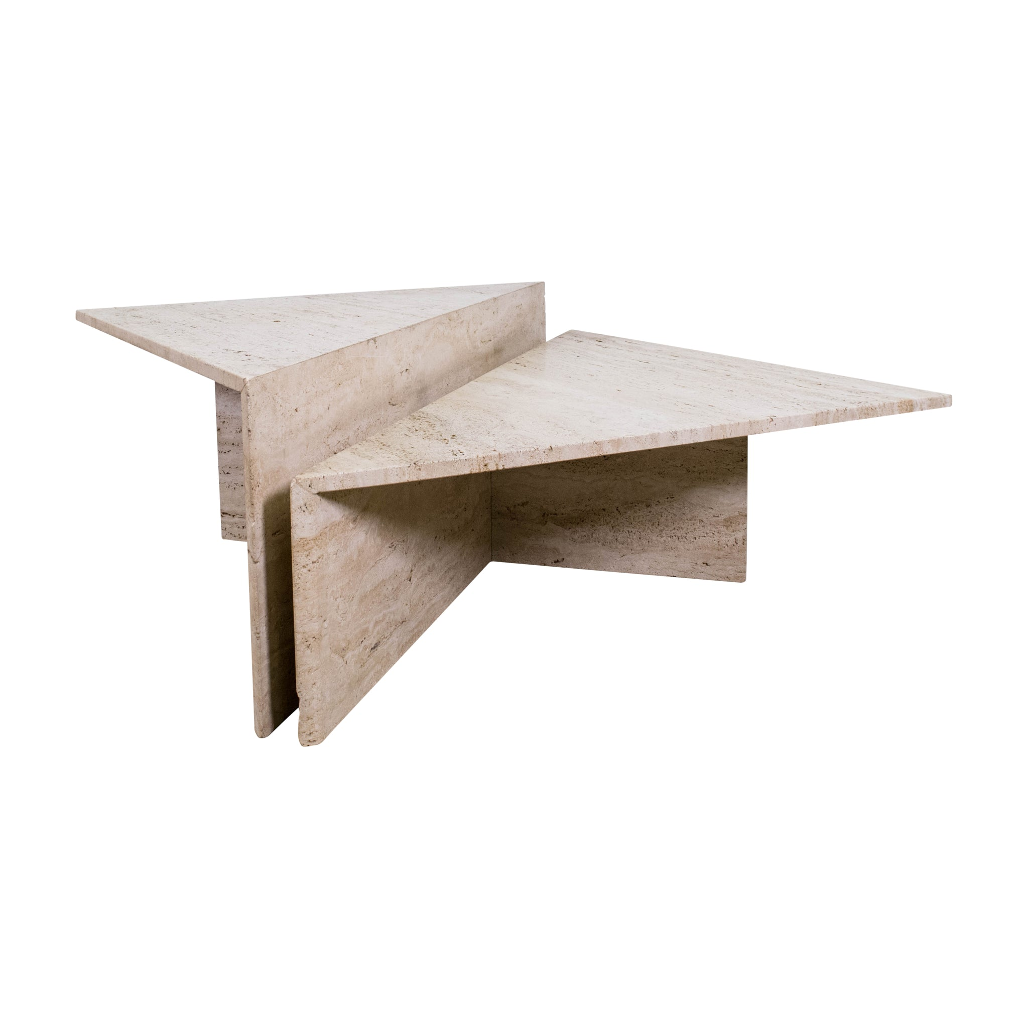 TRAVERTINE TWO-TIER COFFEE TABLE
