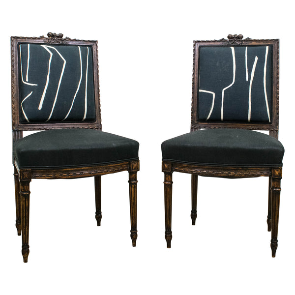 Pair of Louis XVI Style Side Chairs