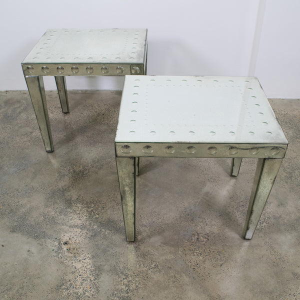 A Pair of Mirrored Side Tables