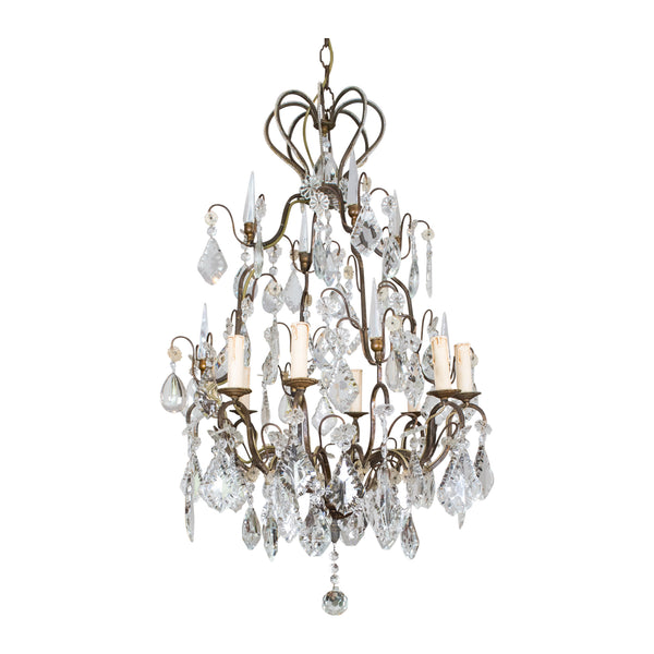 A Louis XV style Bronze 8 Light Chandelier