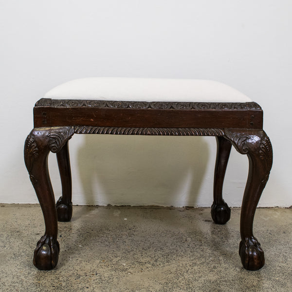 George III Carved Mahogany Stool