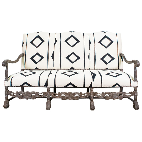 Antique Renaissance Style French Settee