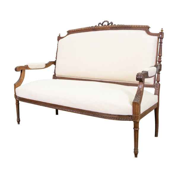 A Louis XVI Style Two Seat Settee