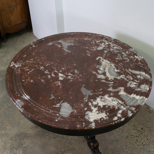 A mid 19th Century French Dark Mahogany Circular Table