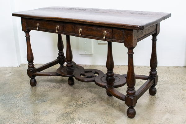 A Charles II Chestnut Low Dresser