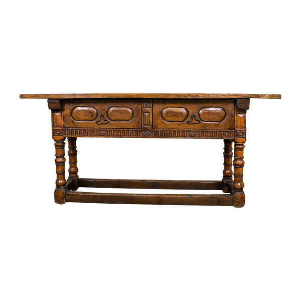 A Spanish Chestnut and Oak Hall Table