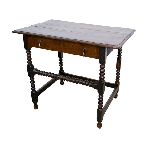 William and Mary Oak Side Table