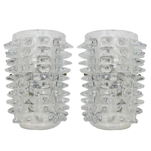 "Pair of Murano ""Rostrato"" Wall Sconces"