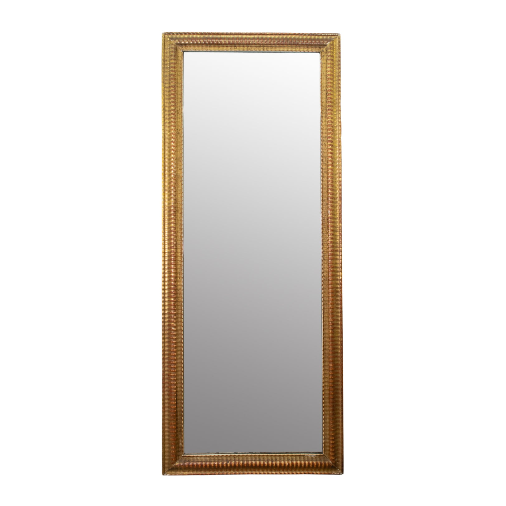 Napoleon III Giltwood Rippled Rectangular Mirror