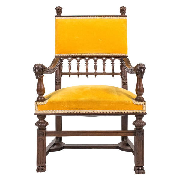An Eccentric French Renaissance style Armchair,