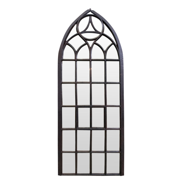 Cast Iron Gothic Mirror