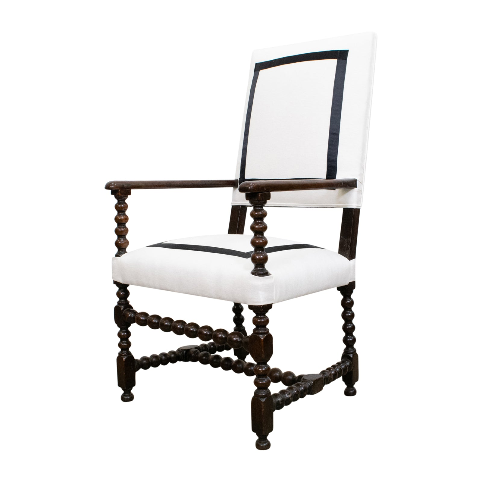 19th Century French High Back Armchair