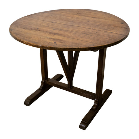 19th Century Oak Vigeron/Wine Table
