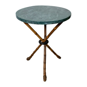 Empire style side table with Faux Marble Top