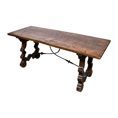 Spanish 19th Century Walnut Coffee Table