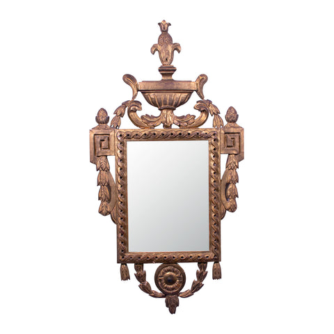 Antique French Neo-Classical Giltwood Mirror