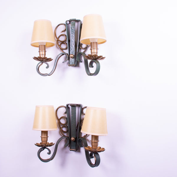 Pair of 1940s French Wall Sconces
