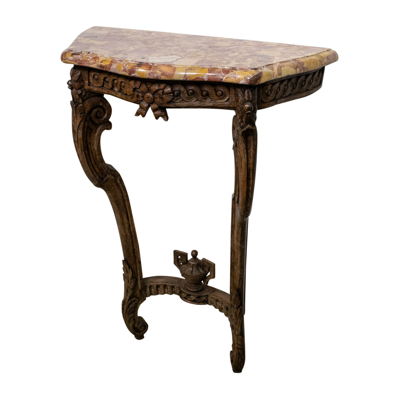 19th Century Louis XV Style Limed Oak Console
