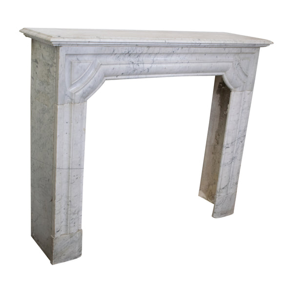 Louis XIV style Carrara marble Fireplace
