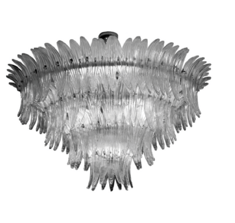 Four Tier Palmette Murano Chandelier