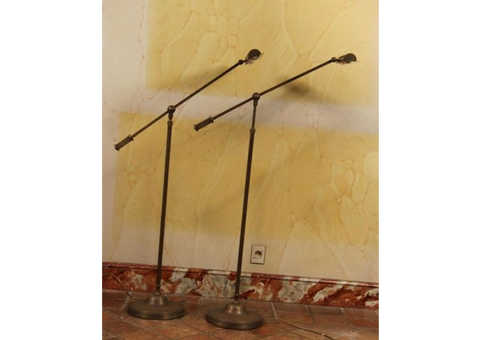 Pair of  Dutruc Rosset Brass Reading Lights
