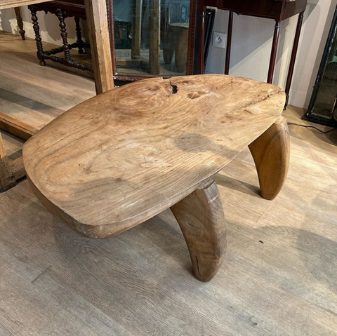 An Unusual Mid Century Elm Coffee Table