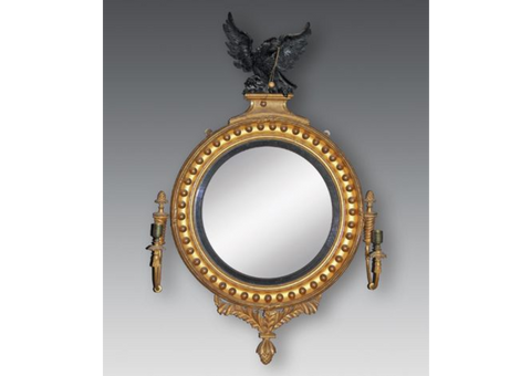 A Superb Regency Period Giltwood Girandole