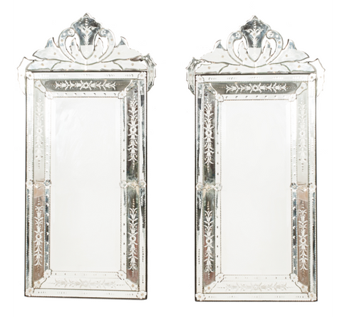 Pair of Large Venetian Mirrors