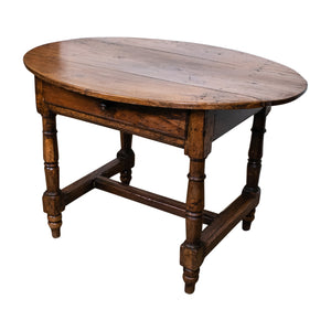 18th/19th Century Oak Side Table with single drawer