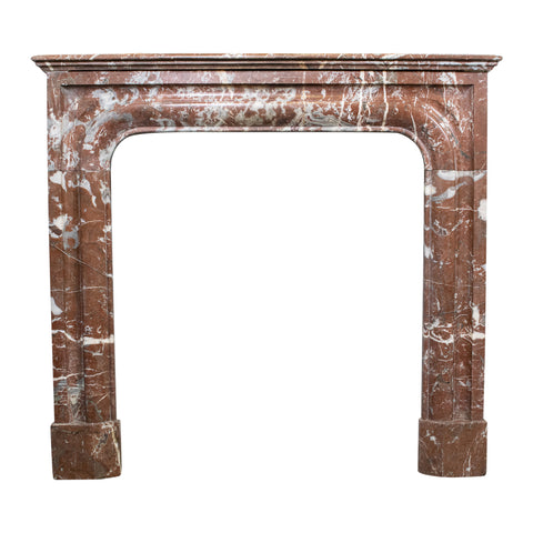 Louis XIV style Rouge Marble Fire Place