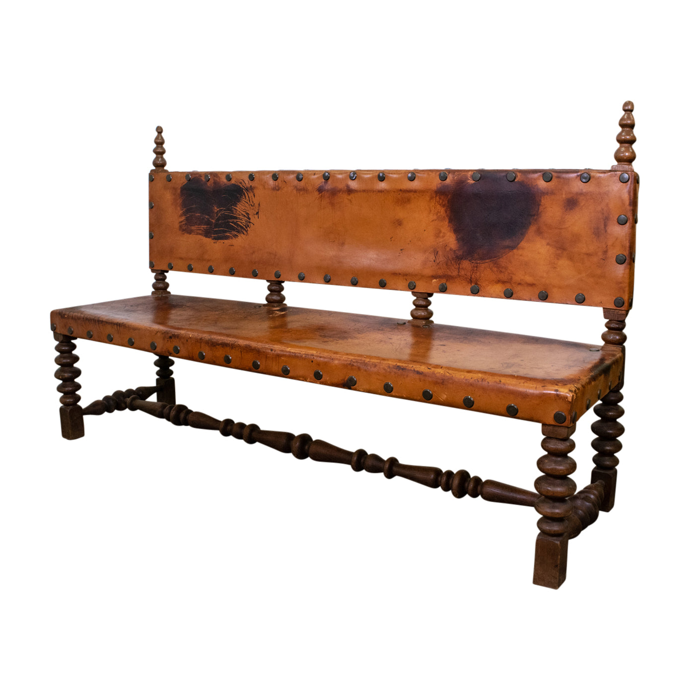 Mid Century Spanish Settee in the Renaissance Style