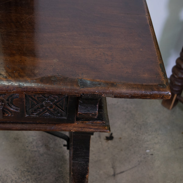 18th Century Spanish Chestnut Console Table