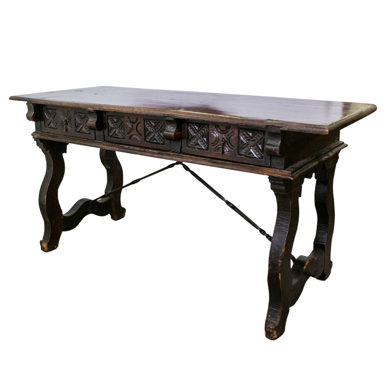 18th Spanish Chestnut Console Table