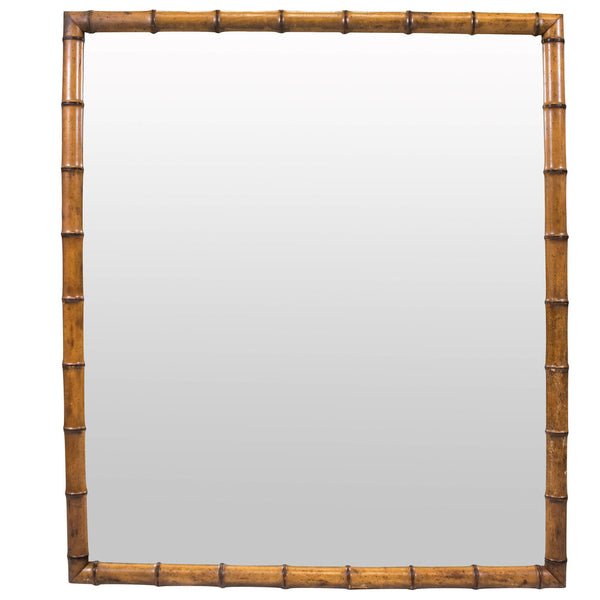Large 19th Century French Faux Bamboo Mirror