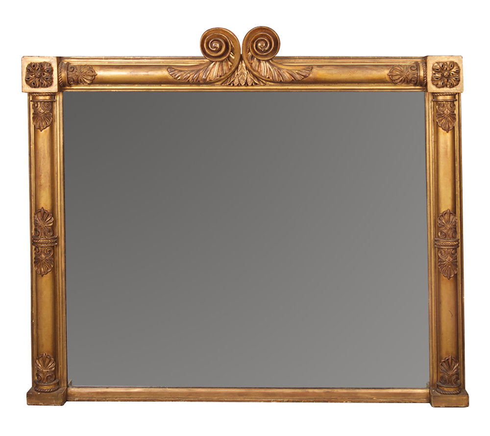 Antique George IV Gilt Overmantel Mirror