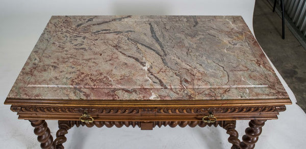 Antique French Herni II style Walnut Centre Table