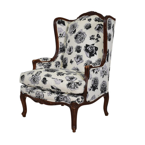 A Louis XV style Wingback Chair