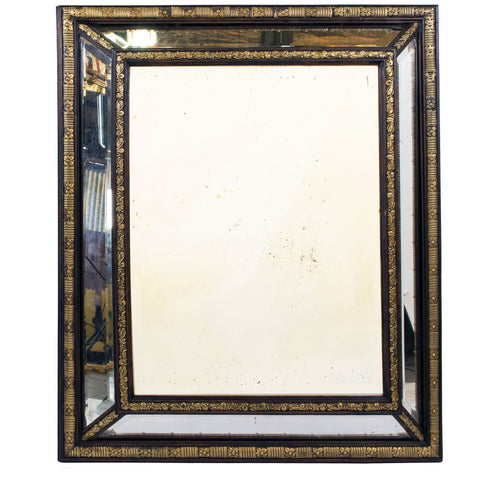 A Large 19th Century Napoleon III Cushion Mirror
