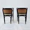 A pair of Austrian Secessionist Armchairs designed by Gustav Siegel