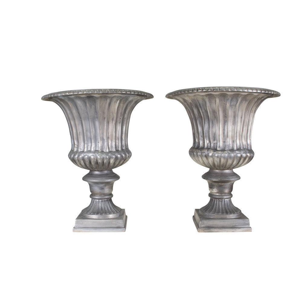 Burnished Aluminium Campagna Urns